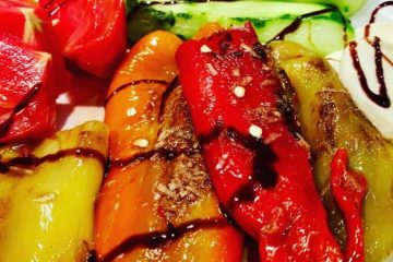 grilled pepper salad the perfect meze salad.