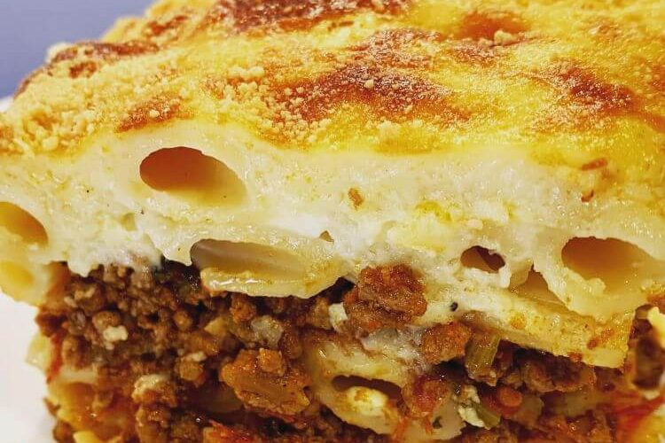 Greek pastitsio recipe (Baked pasta)