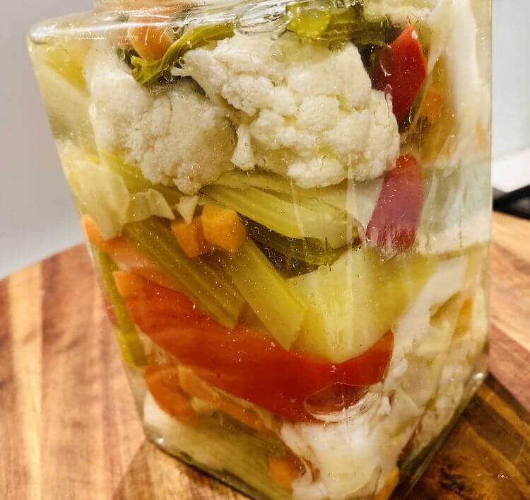 Pickled vegetables recipe, (How to make Toursi)